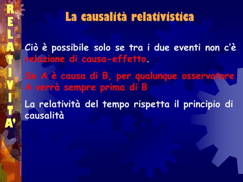 La causalità relativistica