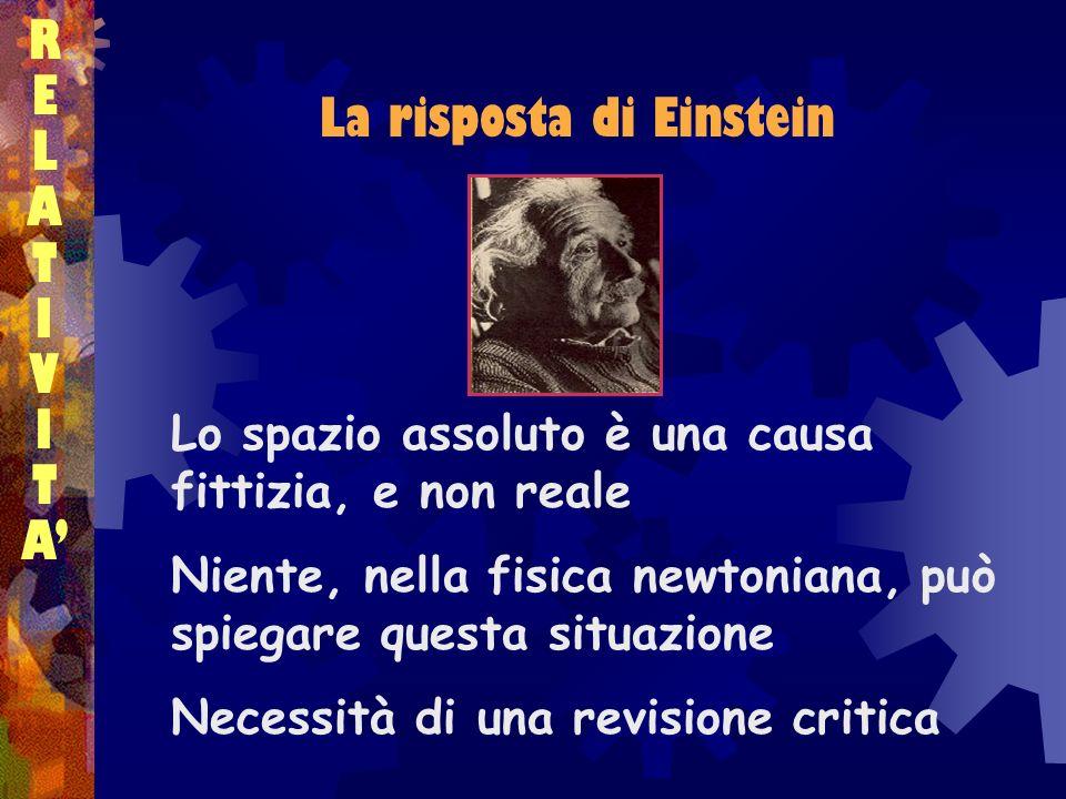 La risposta di Einstein