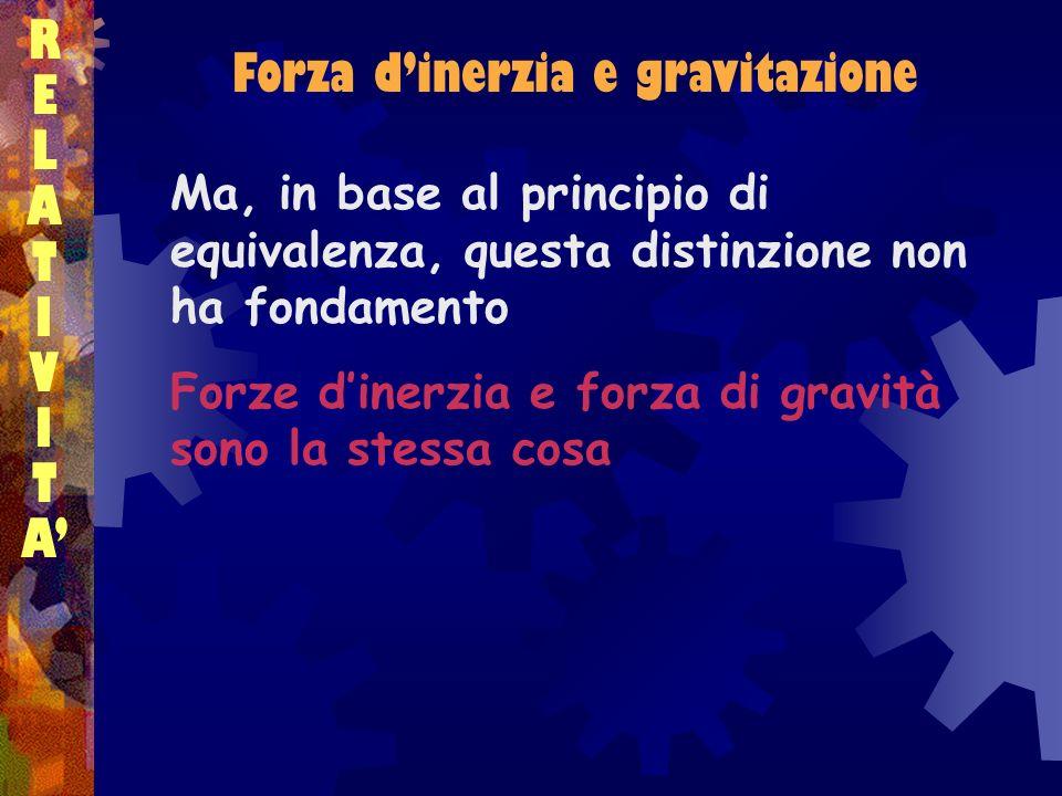 Forza d'inerzia e gravitazione