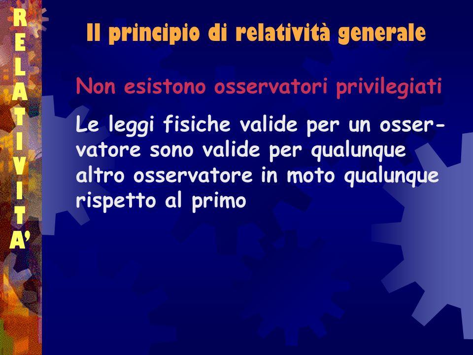 Il principio di relatività generale