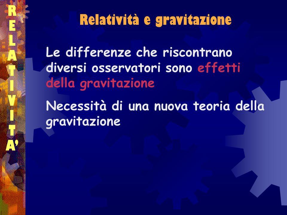 Relatività e gravitazione