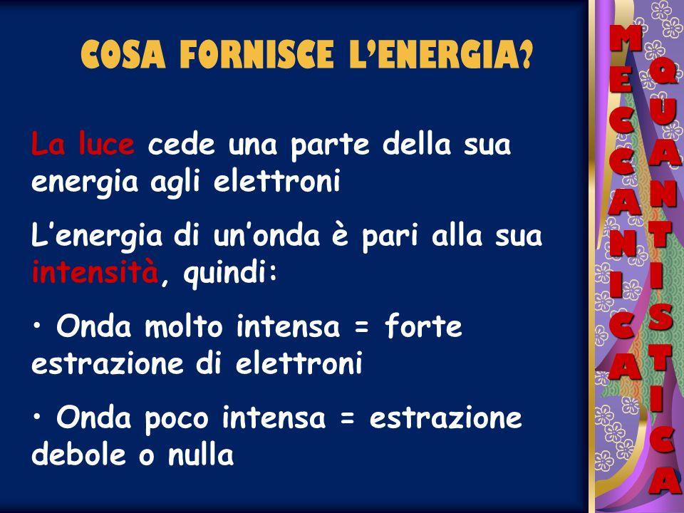 COSA FORNISCE L'ENERGIA