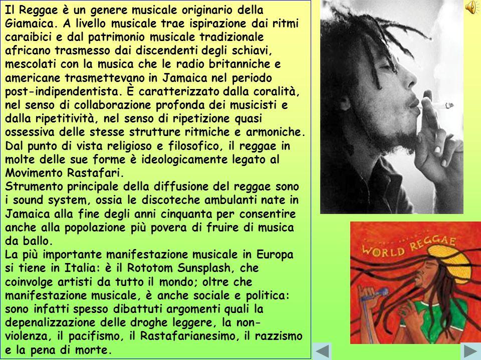 Il Reggae è un genere musicale originario della Giamaica