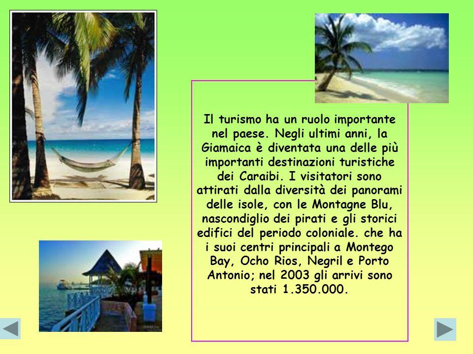 Il turismo ha un ruolo importante nel paese