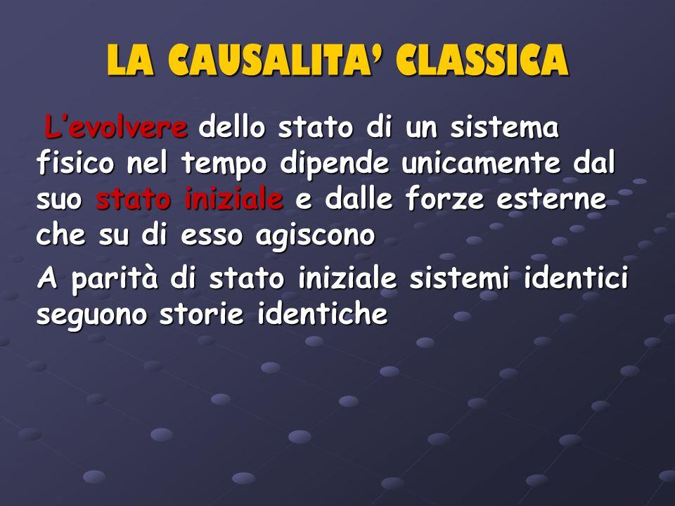 LA CAUSALITA' CLASSICA