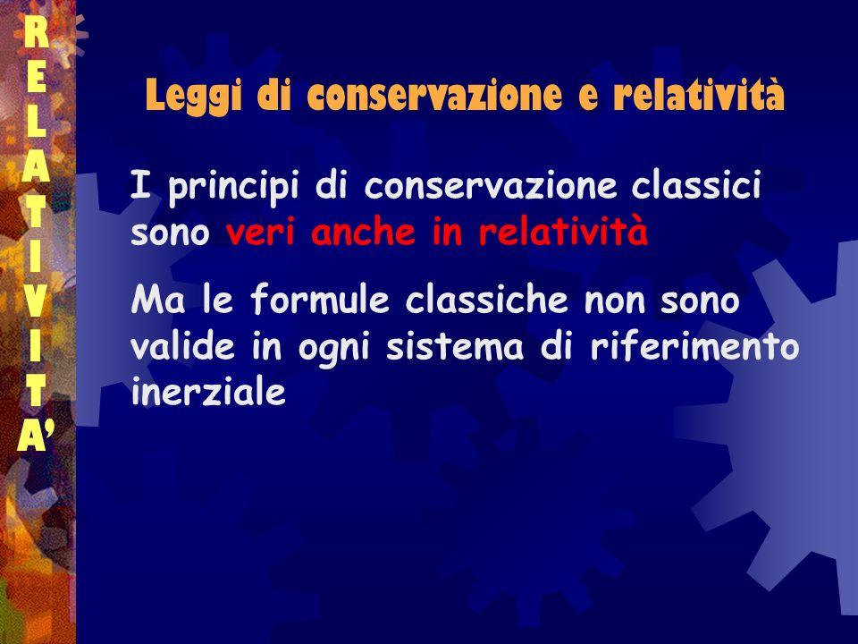 Leggi di conservazione e relatività