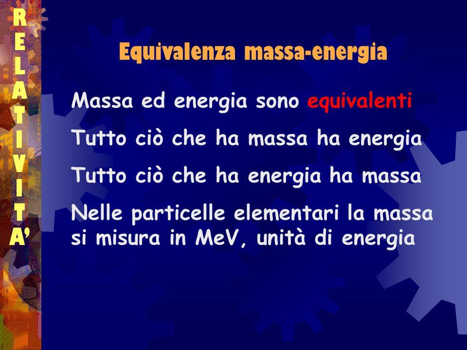 Equivalenza massa-energia