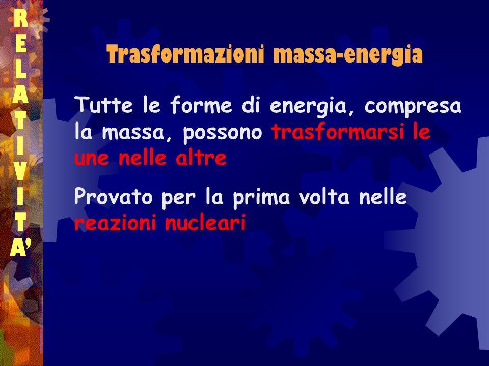 Trasformazioni massa-energia