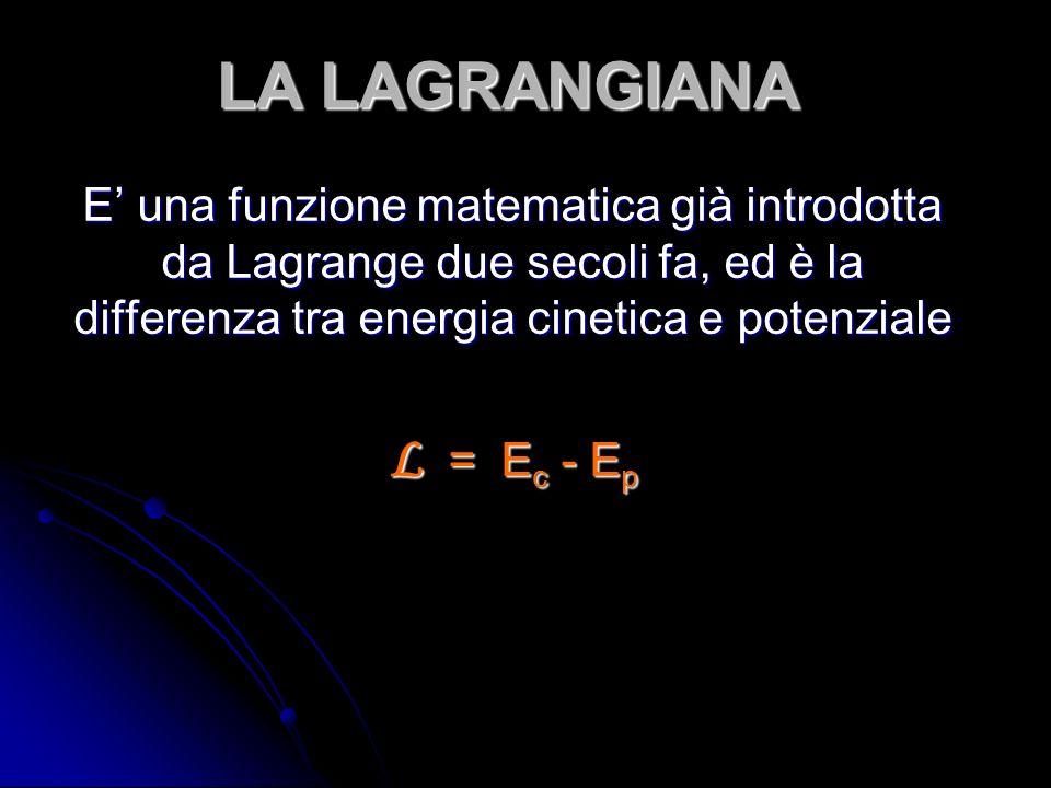 LA LAGRANGIANA L = Ec - Ep