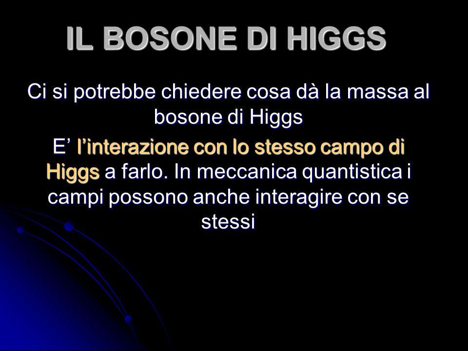 Ci si potrebbe chiedere cosa dà la massa al bosone di Higgs
