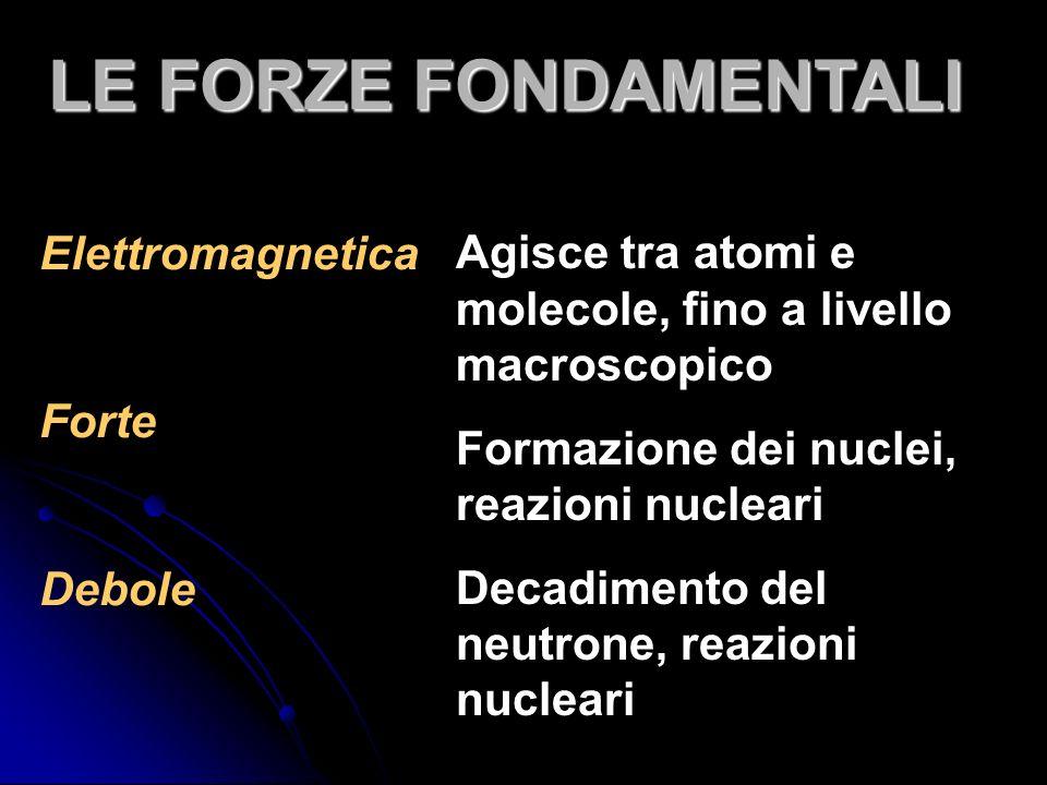 LE FORZE FONDAMENTALI Elettromagnetica