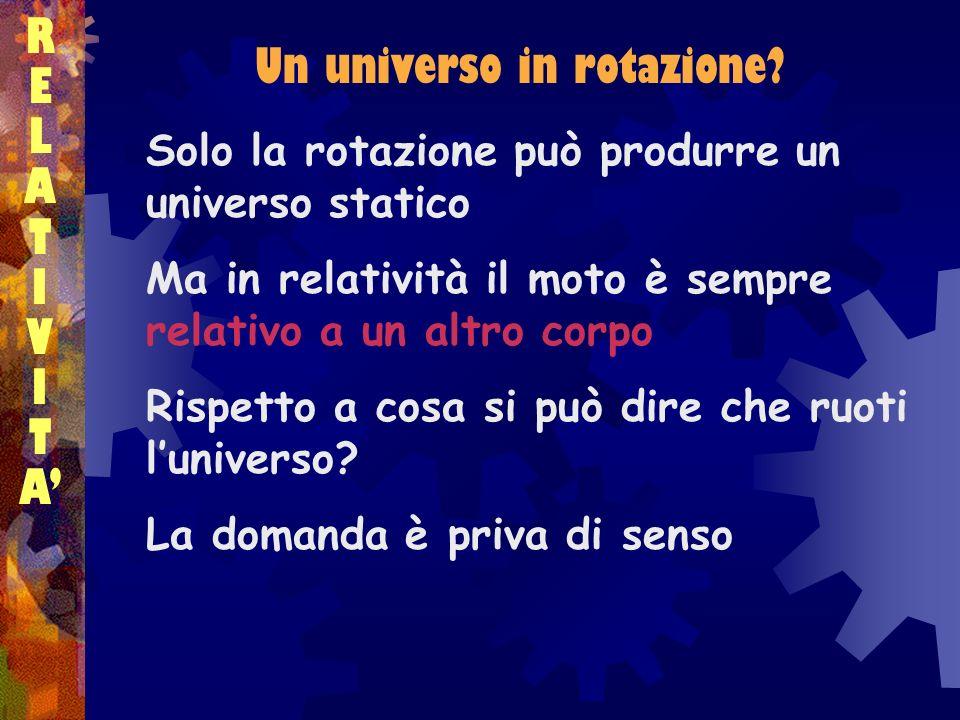 Un universo in rotazione