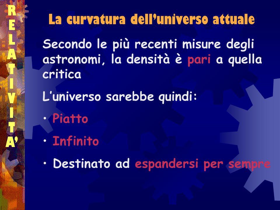 La curvatura dell'universo attuale