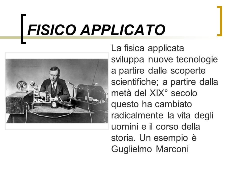 FISICO APPLICATO