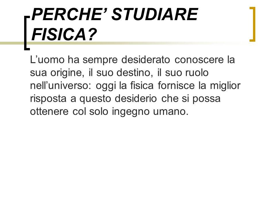 PERCHE' STUDIARE FISICA