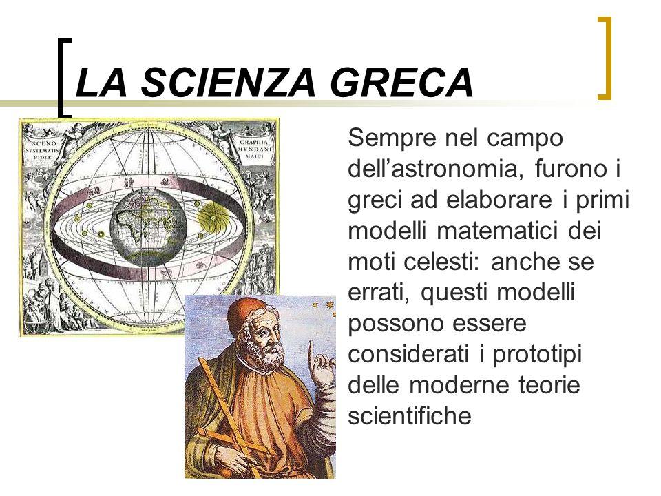 LA SCIENZA GRECA