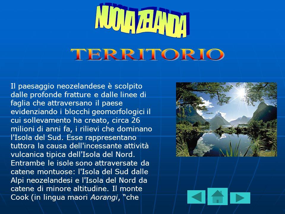 NUOVA ZELANDA TERRITORIO
