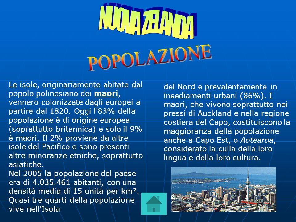 NUOVA ZELANDA POPOLAZIONE