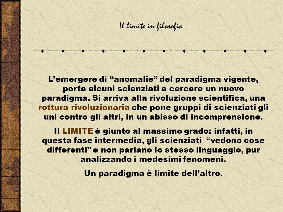 Un paradigma è limite dell'altro.