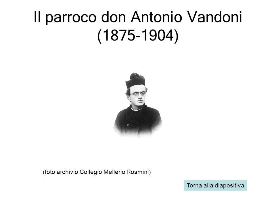 Il parroco don Antonio Vandoni (1875-1904)