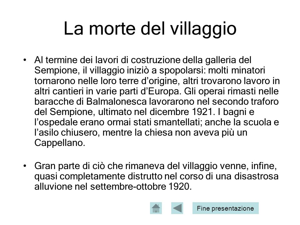 La morte del villaggio