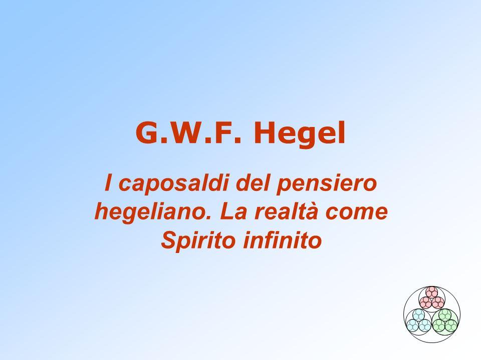I caposaldi del pensiero hegeliano. La realtà come Spirito infinito
