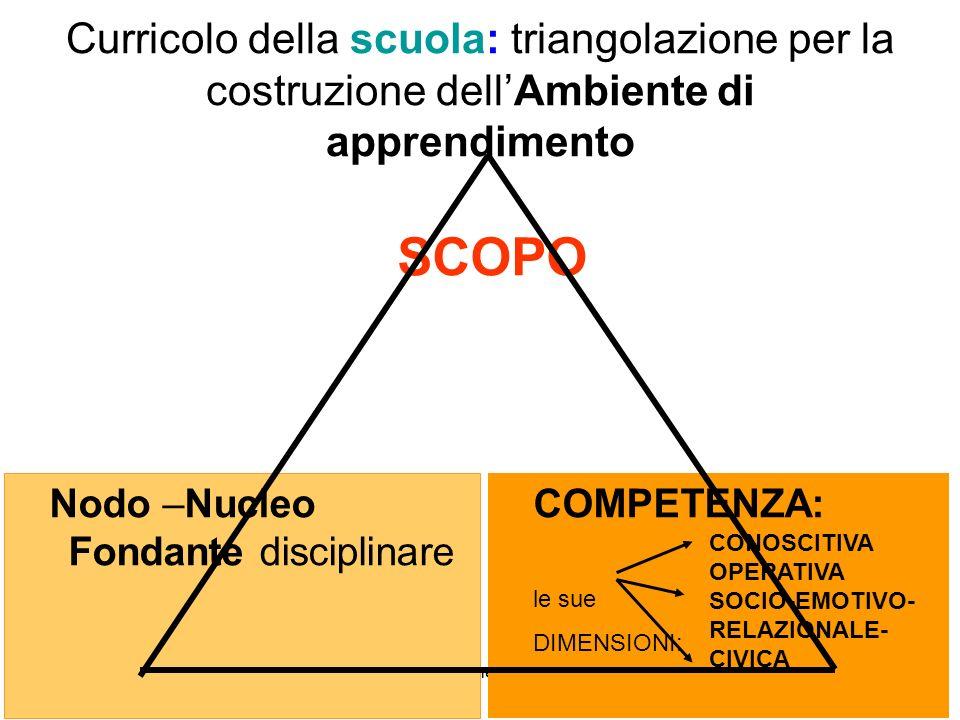 Curricolo della scuola: triangolazione per la costruzione dell'Ambiente di apprendimento