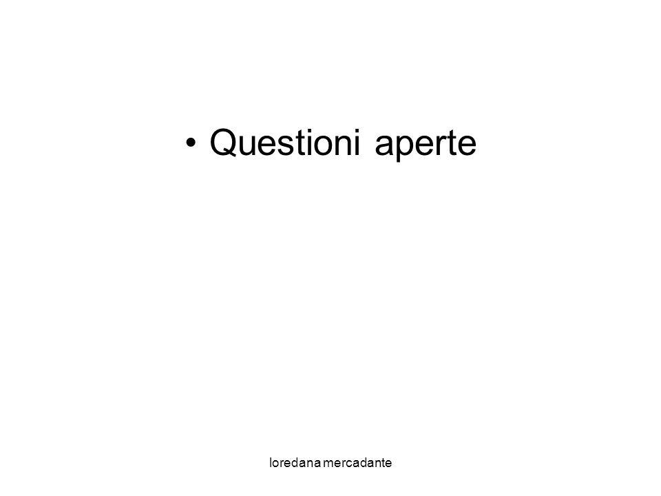 Questioni aperte loredana mercadante