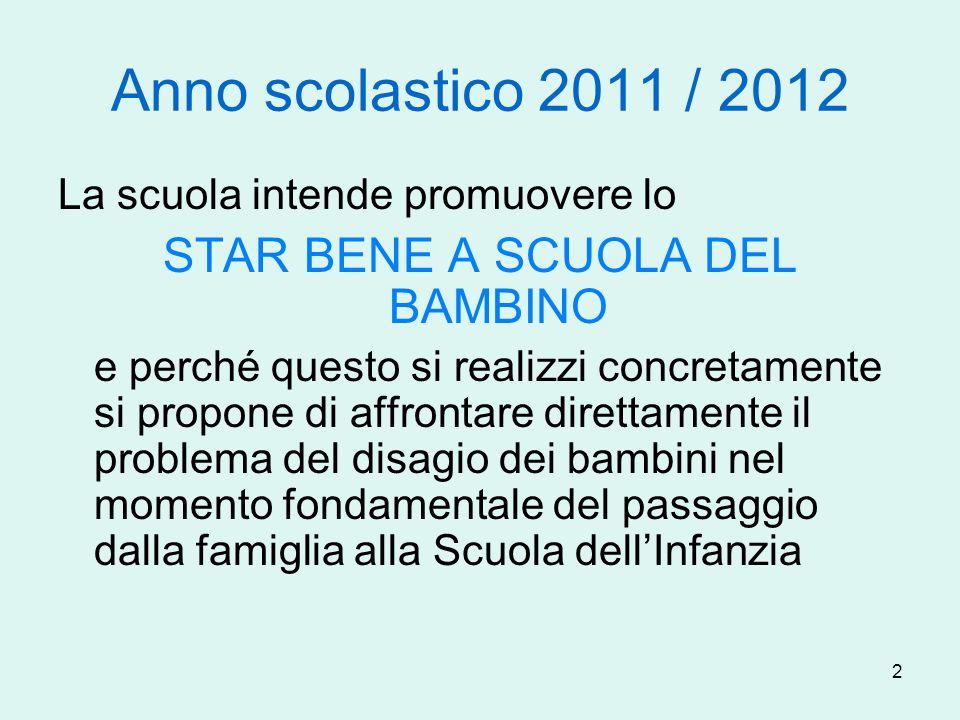 STAR BENE A SCUOLA DEL BAMBINO