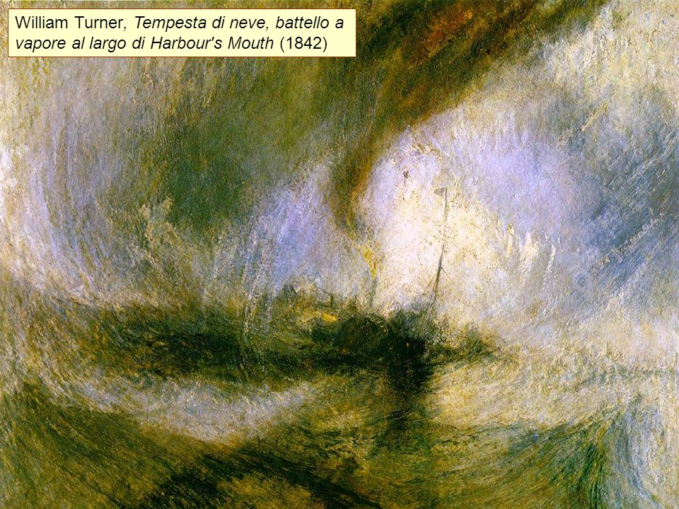 William Turner, Tempesta di neve, battello a vapore al largo di Harbour s Mouth (1842)
