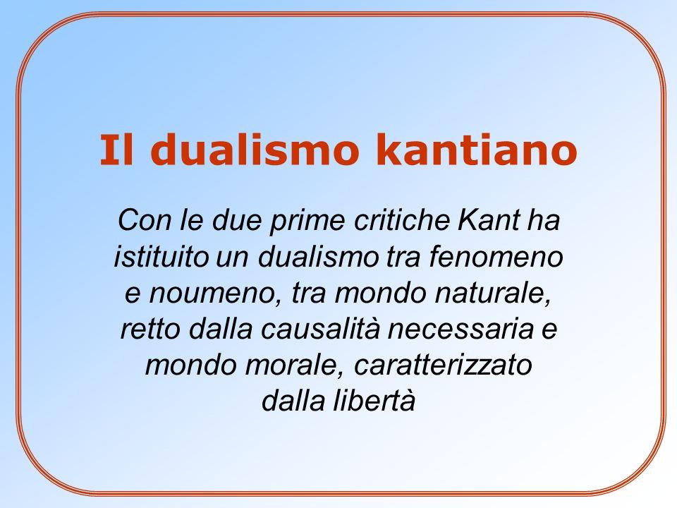 Il dualismo kantiano
