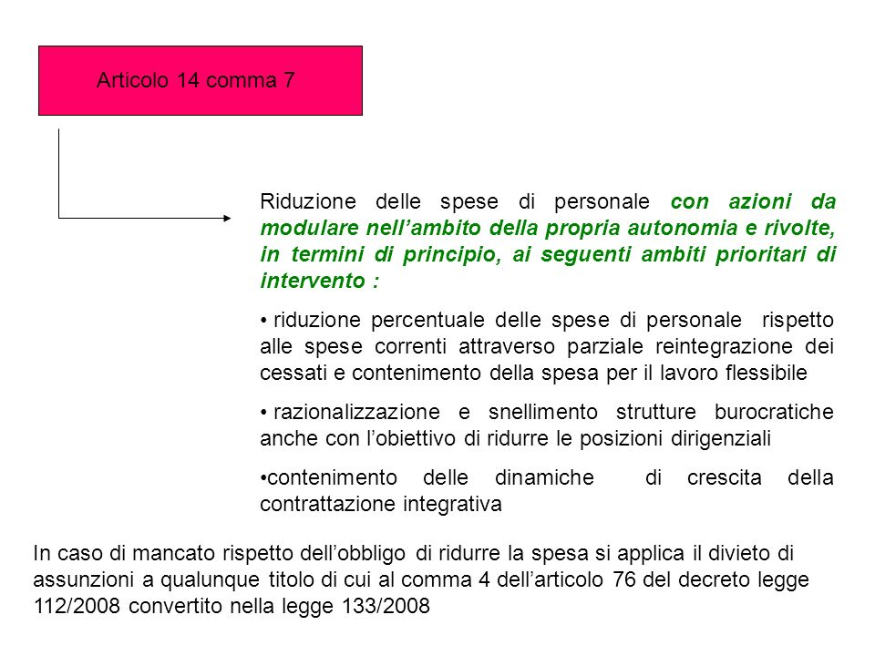 Articolo 14 comma 7
