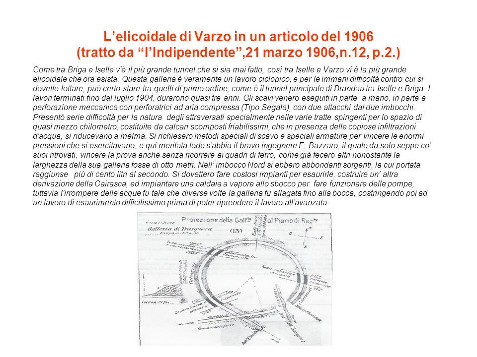 L'elicoidale di Varzo in un articolo del 1906 (tratto da l'Indipendente ,21 marzo 1906,n.12, p.2.)