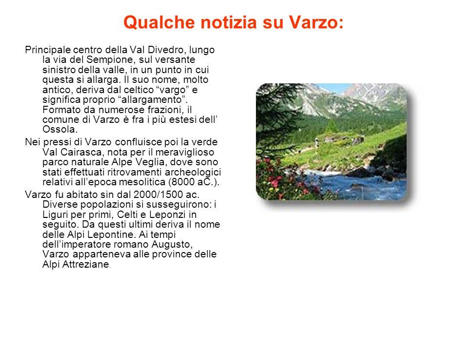 Qualche notizia su Varzo: