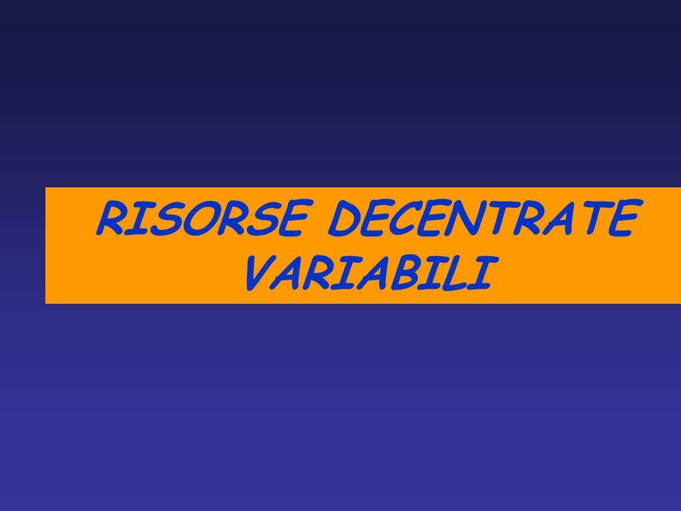 RISORSE DECENTRATE VARIABILI