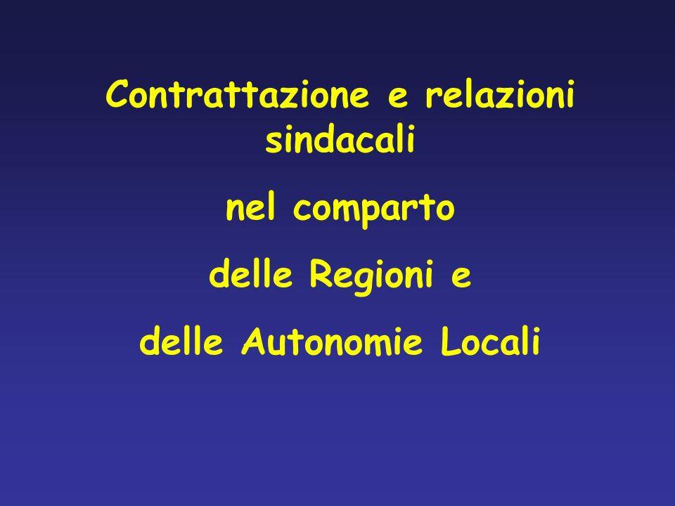 Contrattazione e relazioni sindacali delle Autonomie Locali