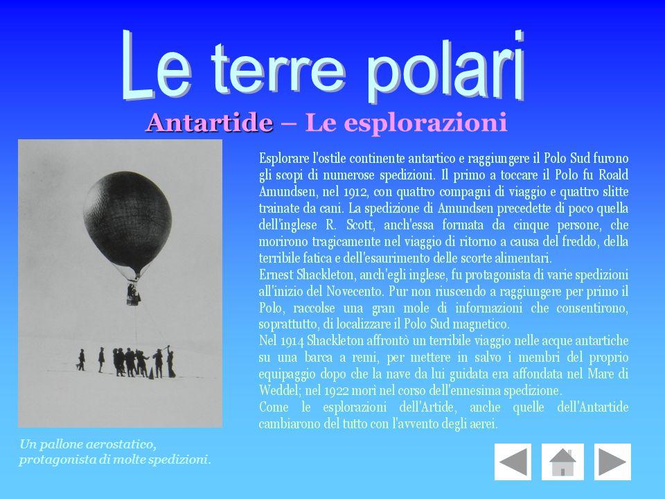 Le terre polari Antartide – Le esplorazioni