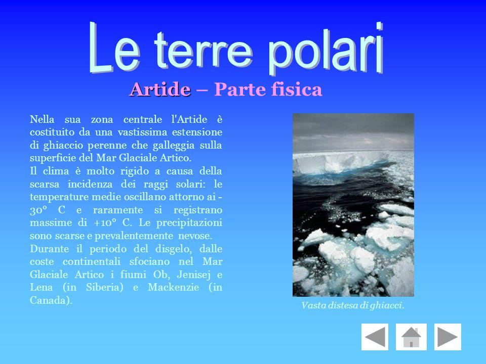 Le terre polari Artide – Parte fisica