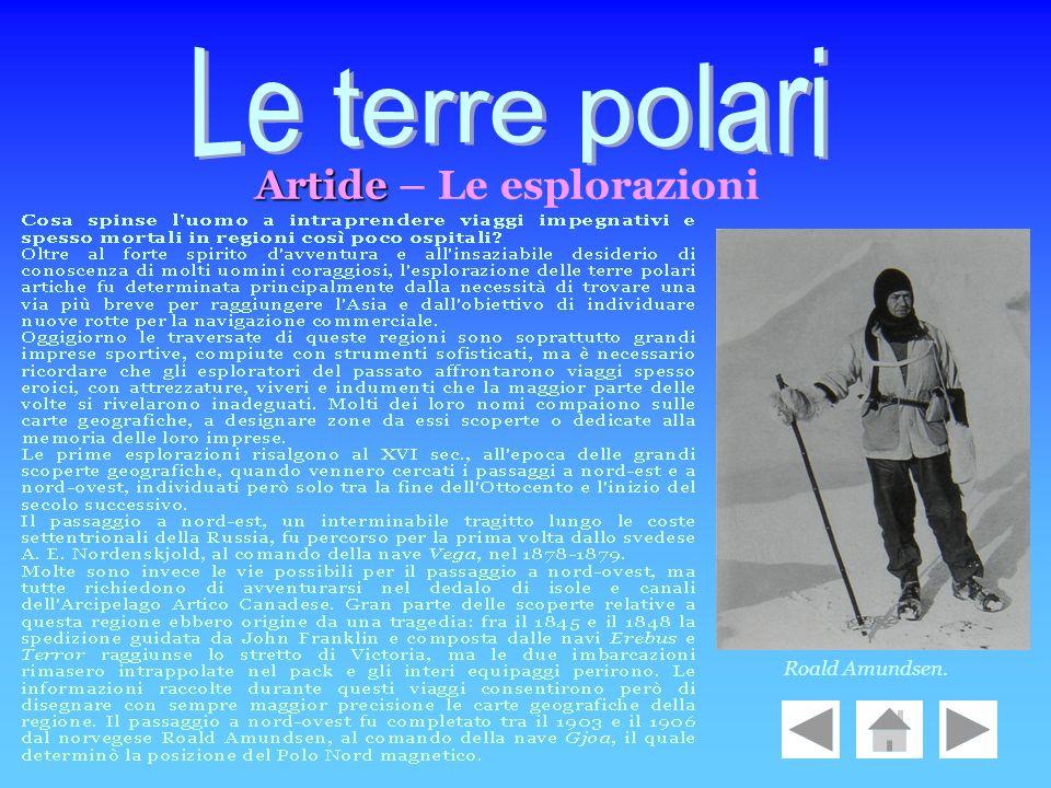 Le terre polari Artide – Le esplorazioni Roald Amundsen.