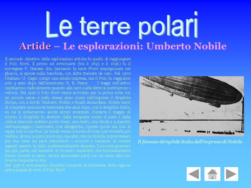 Le terre polari Artide – Le esplorazioni: Umberto Nobile