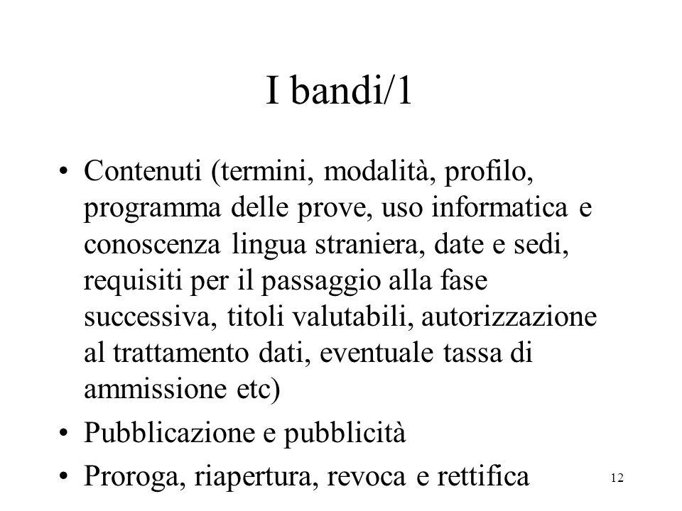 I bandi/1