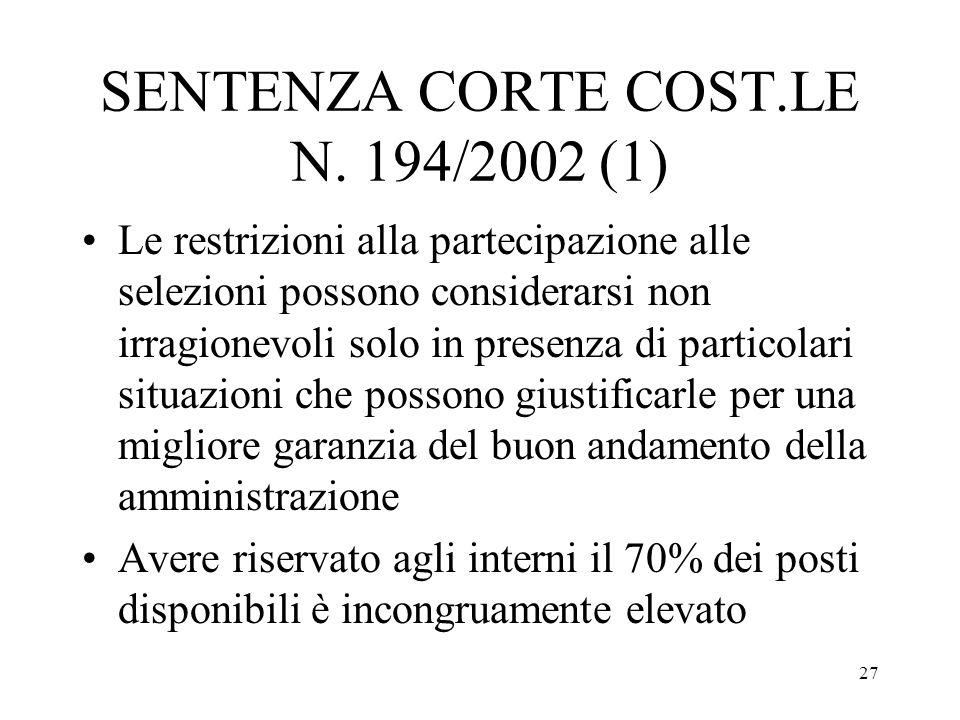 SENTENZA CORTE COST.LE N. 194/2002 (1)