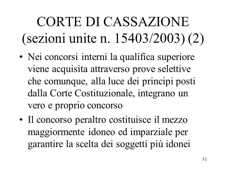 CORTE DI CASSAZIONE (sezioni unite n. 15403/2003) (2)