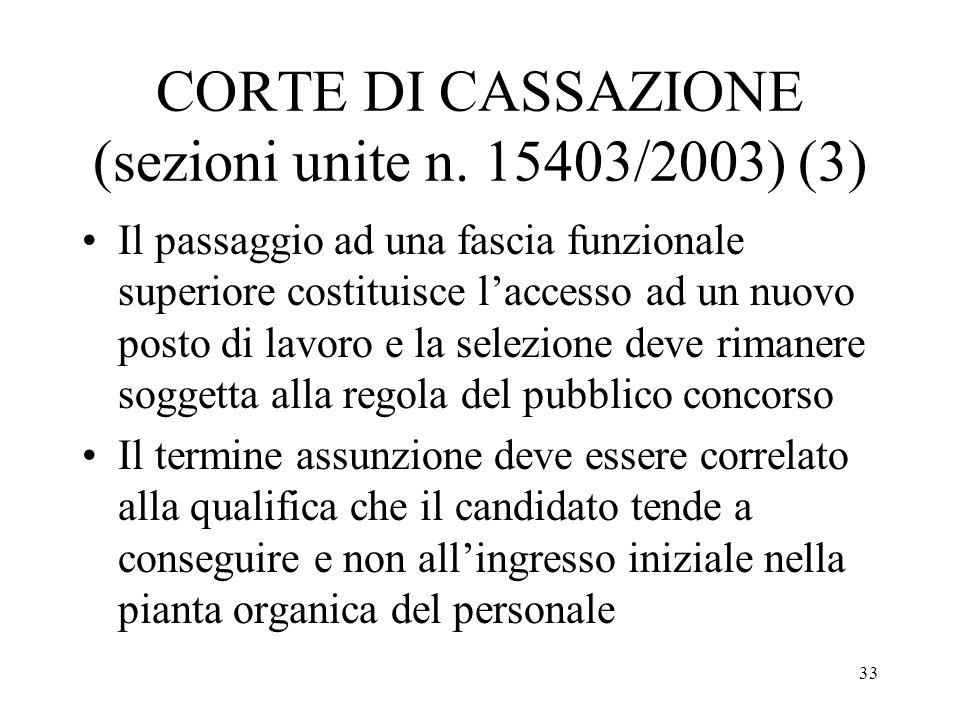 CORTE DI CASSAZIONE (sezioni unite n. 15403/2003) (3)