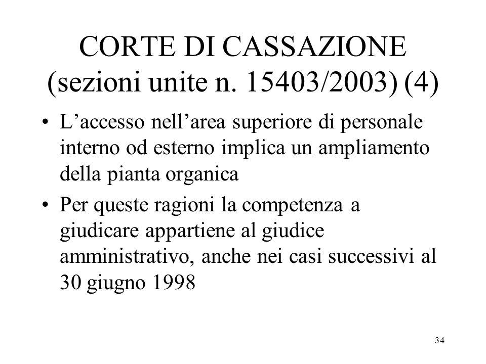 CORTE DI CASSAZIONE (sezioni unite n. 15403/2003) (4)