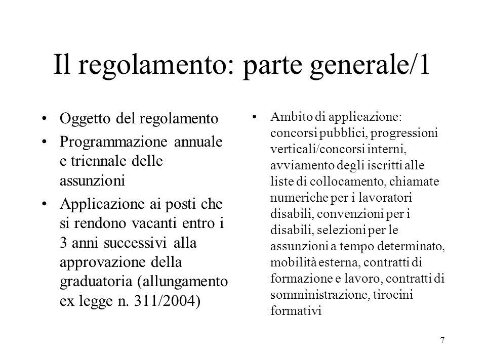 Il regolamento: parte generale/1