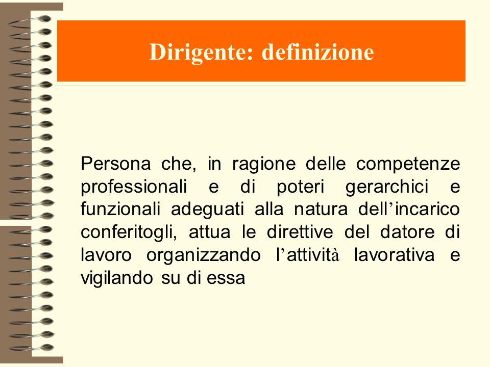 Dirigente: definizione