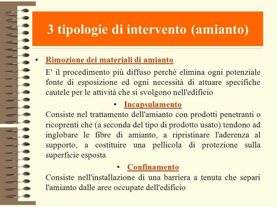 3 tipologie di intervento (amianto)
