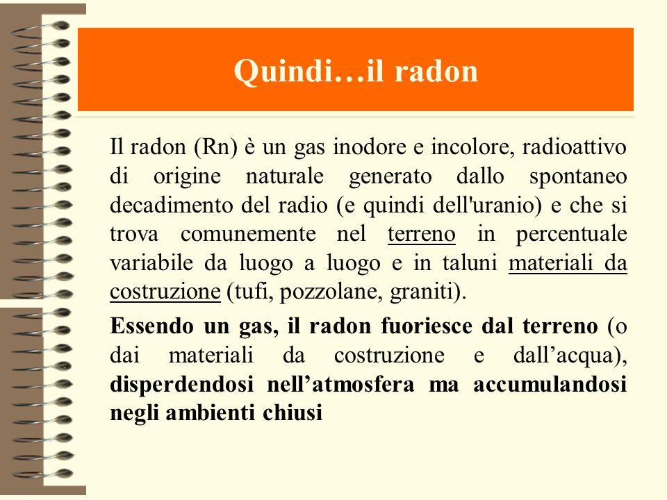 Quindi…il radon