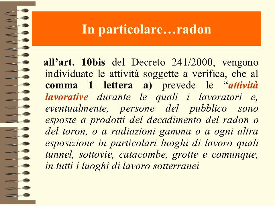 In particolare…radon